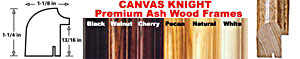 Canvas Knight Premium Ash Wood Frame Colors: Black, Walnut, Cherry, Pecan, Natural, White
