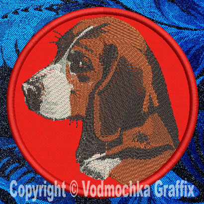 "Beagle BT2298 10"" Double Extra Large Embroidery Patch - Click Image to Close"