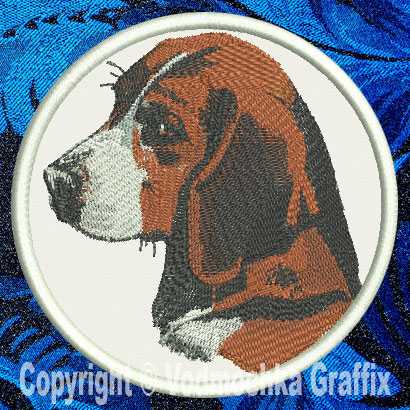 "Beagle BT2298 - 6"" Large Embroidery Patch - Click Image to Close"