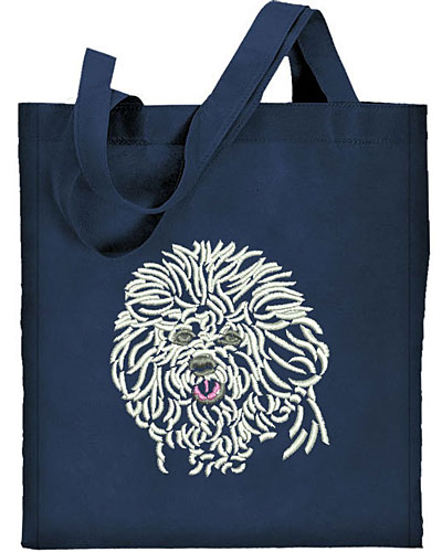 Bichon Frise Portrait #1 Embroidered Tote Bag #1 - Click Image to Close
