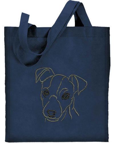 Jack Russell Terrier Portrait #1 Embroidered Tote Bag #1 - Click Image to Close