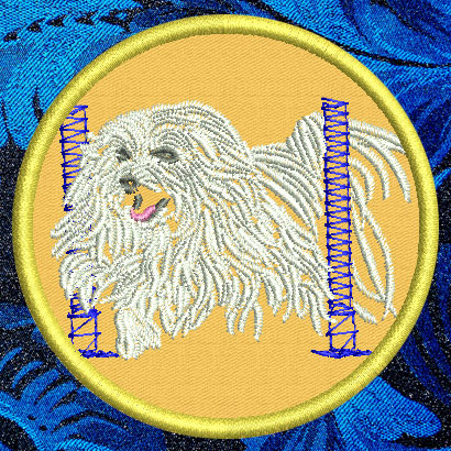 "Maltese Agility #6 - 4"" Medium Embroidery Patch - Click Image to Close"
