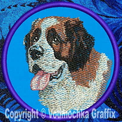 "Saint Bernard BT2712 - 7"" Extra Large Embroidery Patch - Click Image to Close"