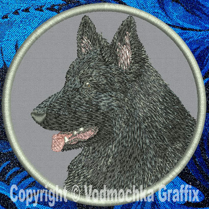 "Shiloh Shepherd HD Profile #3 - 6"" Large Embroidery Patch - Click Image to Close"