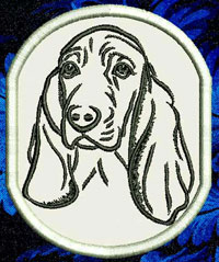 Basset Hound Portrait Embroidery Patch - Click for More Information