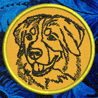 Bernese Mountain Dog Portrait Embroidery Patch - Click for More Information