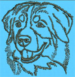 Bernese Mountain Dog Portrait - Vodmochka Embroidery Design Picture - Click to Enlarge