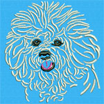 Bichon Frise Portrait - Vodmochka Embroidery Design Picture - Click to Enlarge