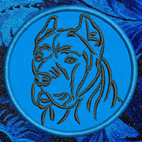 Cane Corso Portrait Embroidery Patch - Click for More Information