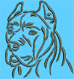 CaneCorso Portrait - Vodmochka Embroidery Design Picture - Click to Enlarge