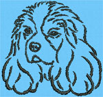 Cavalier King Charles Spaniel Portrait - Vodmochka Embroidery Design Picture - Click to Enlarge