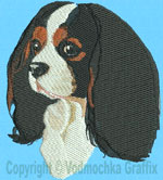 Cavalier Spaniel Portrait - Vodmochka Embroidery Design Picture - Click to Enlarge