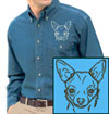 Chihuahua Embroidered Patch for Chihuahua Lovers - Click to Enlarge