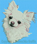 Chihuahua Portrait - Vodmochka Embroidery Design Picture - Click to Enlarge