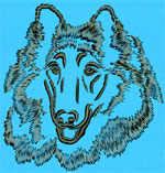 Rough Collie Portrait - Vodmochka Embroidery Design Picture - Click to Enlarge