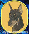 Doberman BT3412 Embroidered Patch for Doberman Lovers - Click to Enlarge
