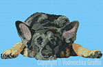 Black and Tan German Shepherd Sleeping HD#1 - Vodmochka Embroidery Design Picture - Click to Enlarge