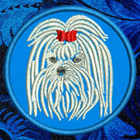 Maltese Portrait Embroidery Patch - Click for More Information