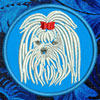 Maltese Embroidered Patch for Maltese Lovers - Click to Enlarge