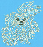 Maltese Agility #1 - Vodmochka Embroidery Design Picture - Click to Enlarge