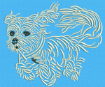 Maltese Agility #4 - Vodmochka Embroidery Design Picture - Click to Enlarge