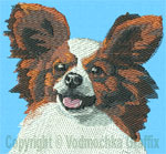 Papillon Portrait - Vodmochka Embroidery Design Picture - Click to Enlarge