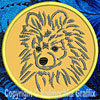 Black Pomeranian Embroidered Patch for Pomeranian Lovers - Click to Enlarge