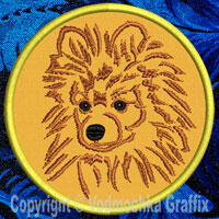 Pomeranian Portrait Embroidery Patch - Click for More Information