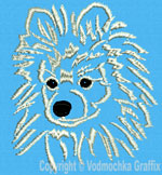 Pomeranian Portrait #2 - Vodmochka Embroidery Design Picture - Click to Enlarge
