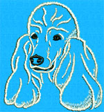 Poodle Portrait - Vodmochka Embroidery Design Picture - Click to Enlarge