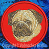Pug Embroidered Patch for Pug Lovers - Click to Enlarge