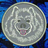 Samoyed Portrait Embroidery Patch - Click for More Information