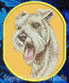 Schnauzer BT3073 Embroidered Patch for Schnauzer Lovers - Click to Enlarge