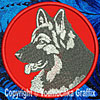 Shiloh Shepherd High Definition Profile #1 Embroidered Patch for Shiloh Shepherd Lovers - Click to Enlarge