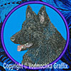 Black Shiloh Shepherd High Definition Profile #3 Embroidered Patch for Shiloh Shepherd Lovers - Click to Enlarge