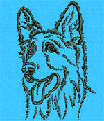Shiloh Shepherd Portrait - Vodmochka Embroidery Design Picture - Click to Enlarge