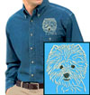 West Highland White Terrier Embroidered Patch for West Highland White Terrier Lovers - Click to Enlarge