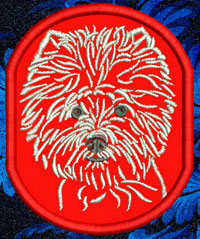 West Highland White Terrier Portrait Embroidery Patch - Click for More Information