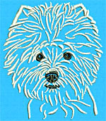 West Highland White Terrier Portrait - Vodmochka Embroidery Design Picture - Click to Enlarge