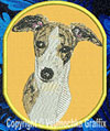 Whippet BT3413 Embroidered Patch for Whippet Lovers - Click to Enlarge