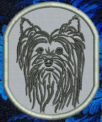 Yorkshire Terrier Portrait Embroidery Patch - Click for More Information