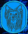 Yorkshire Terrier Portrait Embroidered Patch for Yorkshire Terrier Lovers - Click to Enlarge