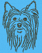 Yorkshire Terrier Portrait - Vodmochka Embroidery Design Picture - Click to Enlarge
