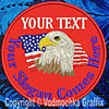 "Eagle-Flag Custom Text - 6"" Large Embroidery Patch"