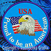 Proud American - Patriotic Embroidery Patch for Proud Americans - Click to Enlarge