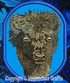 Bison - American Buffalo High Definition Portrait #1 Embroidered Patch for Gorilla Lovers - Click to Enlarge