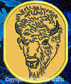 Bison - American Buffalo Portrait #1 Embroidered Patch for  Lovers - Click to Enlarge