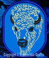 Bison - American Buffalo Portrait #2 Embroidered Patch for  Lovers - Click to Enlarge
