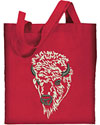 Bison Portrait #2 White Buffalo Embroidered Tote Bag for Bison Lovers - Click to Enlarge
