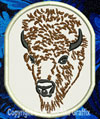 Bison - American Buffalo Portrait #3 Embroidered Patch for  Lovers - Click to Enlarge